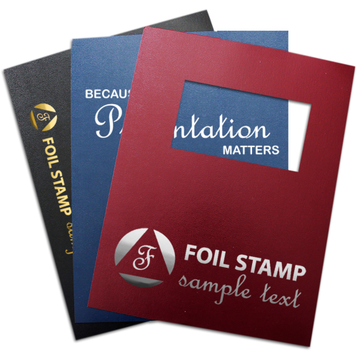 Custom Foil Stamp and Printed Vinyl Binding Covers